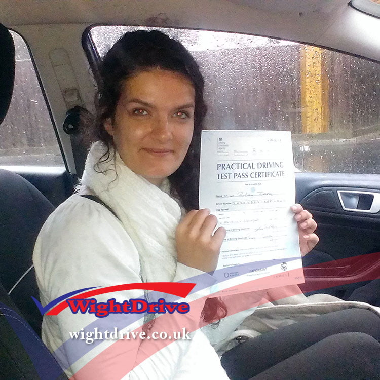 carley-percy-driving-test-pass-2014-with-john-mitchell-isle-of-wight-driving-instructor
