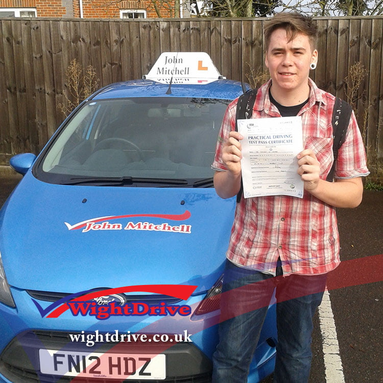dominic-gates--driving-test-pass-2014-with-john-mitchell-isle-of-wight-driving-instructor