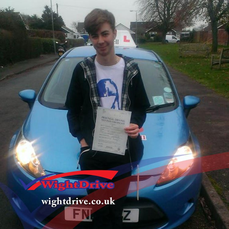 george-davies-driving-test-pass-2014-with-john-mitchell-isle-of-wight-driving-instructor