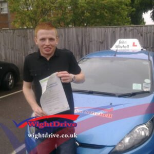 jordan-searle-driving-test-pass-2014-with-john-mitchell-isle-of-wight-driving-instructor