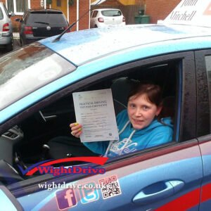 leona-gaskn-driving-test-pass-2014-with-john-mitchell-isle-of-wight-driving-instructor