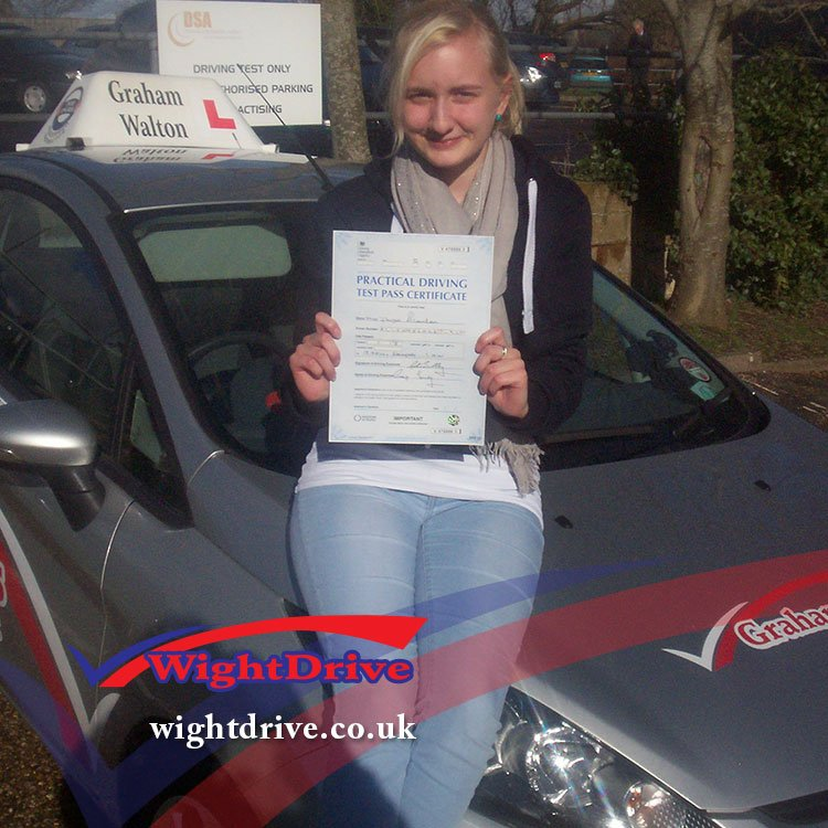 paige-allenden-driving-test-pass-2014-with-graham-walton-isle-of-wight-driving-instructor