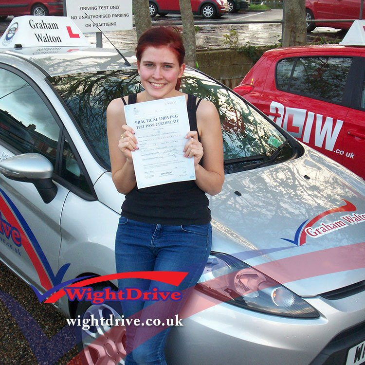 Abbey-Westmore-driving-test-pass-2014-with-Graham-Walton-isle-of-wight-driving-instructor