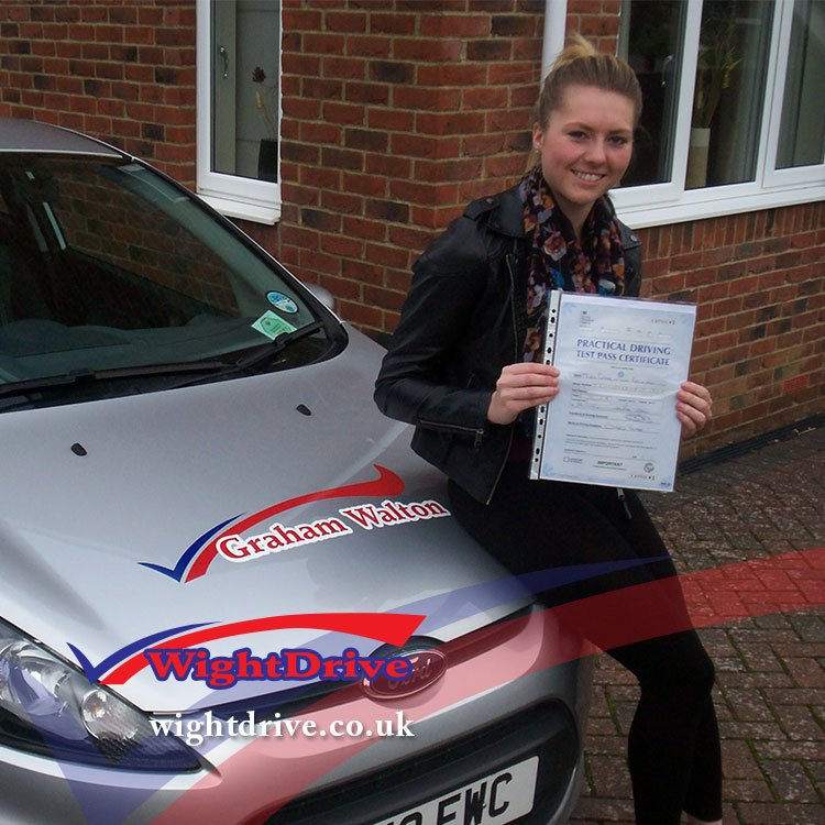 Grace-Brockwell-driving-test-pass-2014-with-Graham-Walton-isle-of-wight-driving-instructor