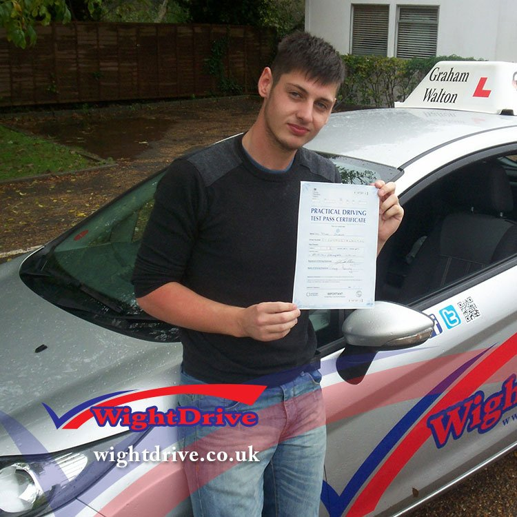 Mark-Stent-driving-test-pass-2014-with-Graham-Walton-isle-of-wight-driving-instructor