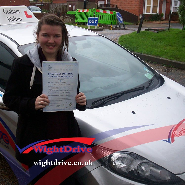 hope-james-driving-test-pass-2014-with-graham-walton-isle-of-wight-driving-instructor