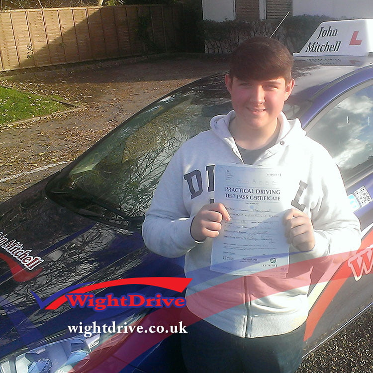 tom-merryfield-driving-test-pass-2014-with-john-mitchell-isle-of-wight-driving-instructor