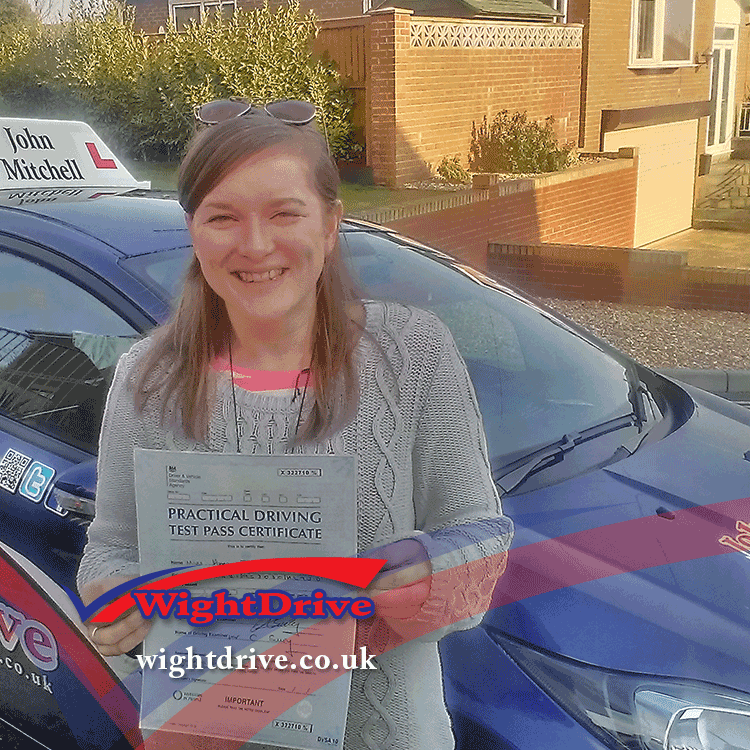Anna-Dubbins-driving-test-pass-2015-with-john-mitchell-isle-of-wight-driving-instructor