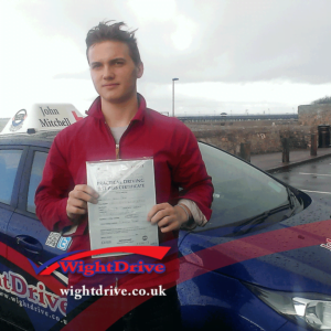 Isaak-Froque-driving-test-pass-2015-with-john-mitchell-isle-of-wight-driving-instructor