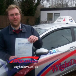 paul-wheller-driving-test-pass-2015-with-graham-walton-isle-of-wight-driving-instructor