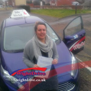 gemma-thody-2015-with-john-mitchell-isle-of-wight-driving-instructor