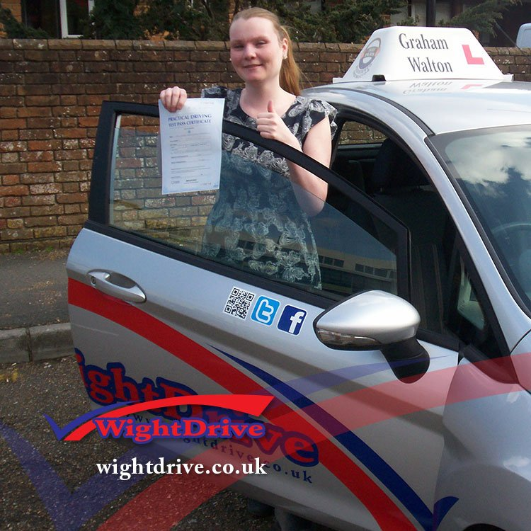 imogen-gilbert-driving-test-pass-2015-with-graham-walton-isle-of-wight-driving-instructor