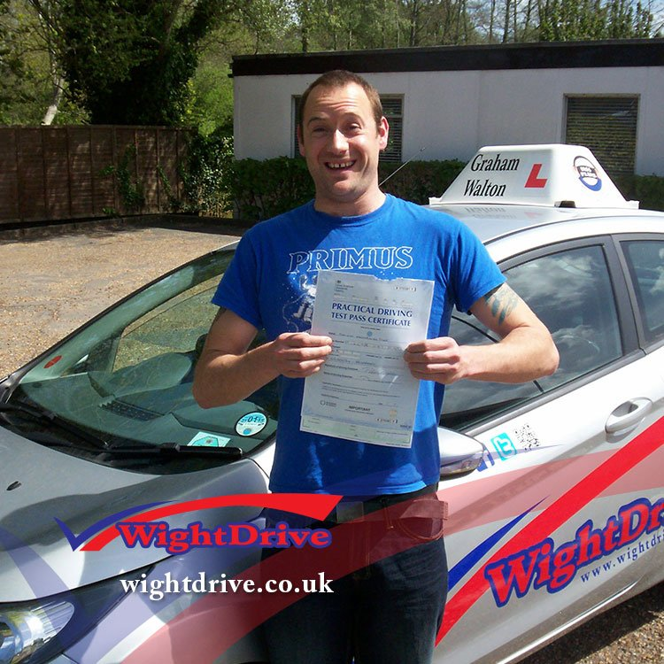 Dean-Pike-driving-test-pass-2015-with-Graham-Walton-isle-of-wight-driving-instructor